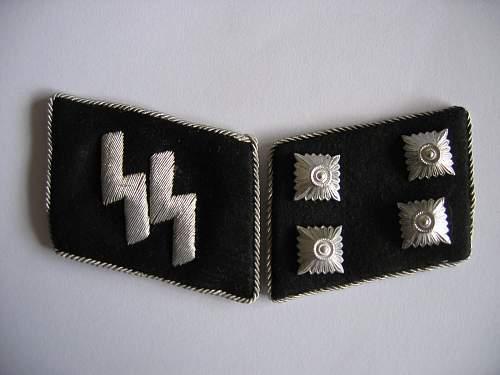 Nice matching pair of ss sturmbahnfuhrer tabs