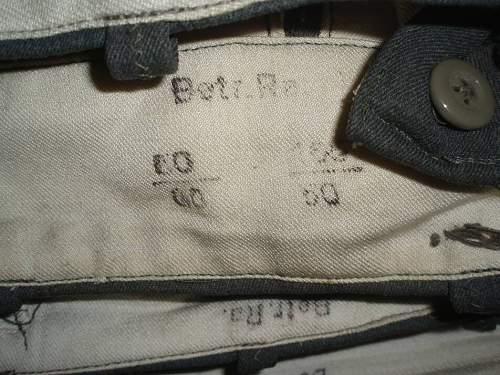SS Hosen, Betr Ra, Italian cloth made