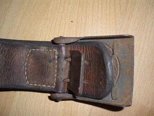 SS belt with Heeres buckle