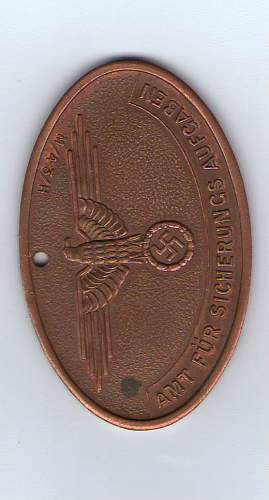 SS Heimwehr Danzig Ausweis badge/medal---IS IT REAL?