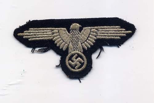 SS - Armelhoheitsabzeichen: Authentic or not?