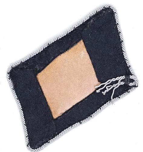 SS tab with paper backing