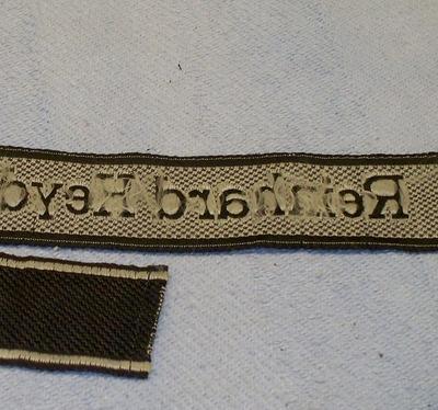 Bevo SS cuff Titles: Reinhard Heydrich and Florian Geyer