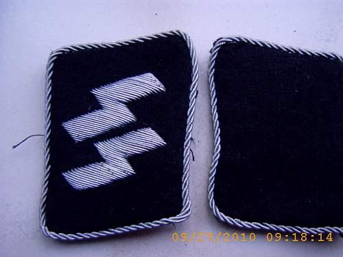 SS insignia (runes, eagle, cuff title )
