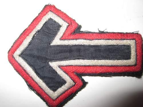 Allgemeine-SS  Reichsfuhrerschule  arrow emblem