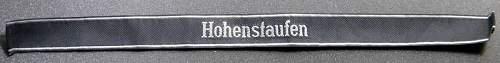Waffen ss Hohenstaufen bevo cuff title