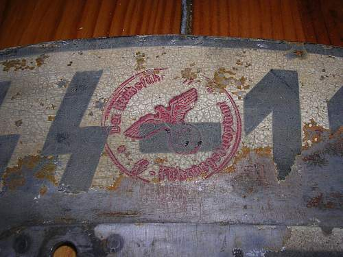 SS Motorbike Registration Plate