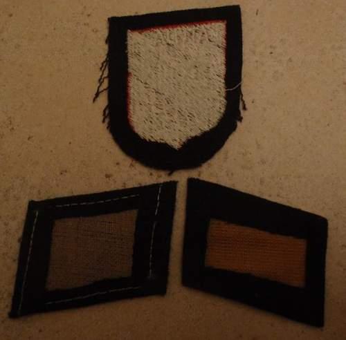 Latvian and Dutch SS collar tabs