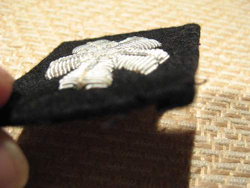 Officers trade badge.