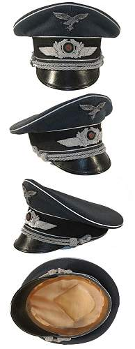 black SS officer's cap