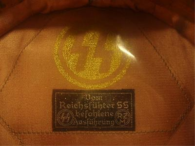 Black SS Hat at auction,,,good or bad