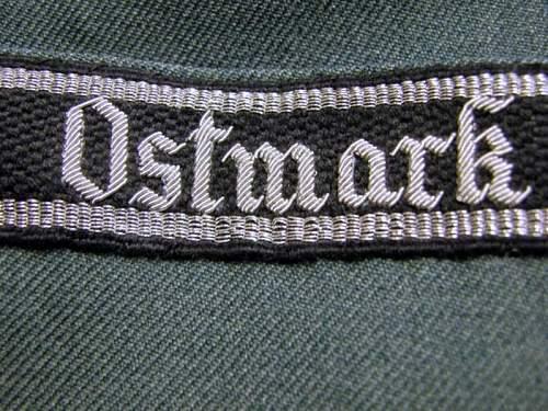 Ostmark cufftitle and SS collar tabs