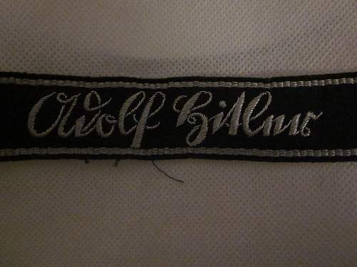 LAH bullion  hand embroidered cuff title