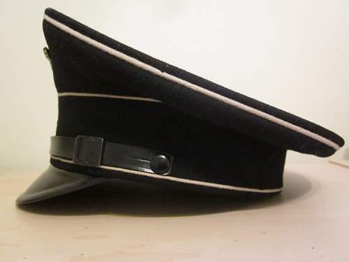 SS Black Visor Cap
