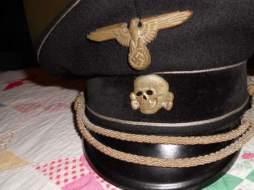 Black ss officer schirrmutze - suspicious