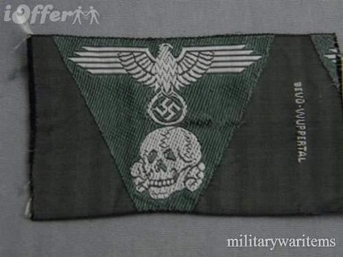 SS Totenkopf/adler trapazoid in black