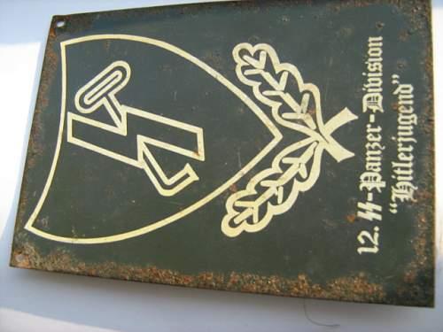 SS 12 panzer steel shield