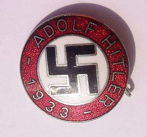 Adof Hitler 1933 pin