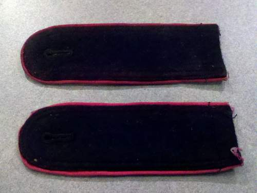 SS Panzer  sew on shoulder boards