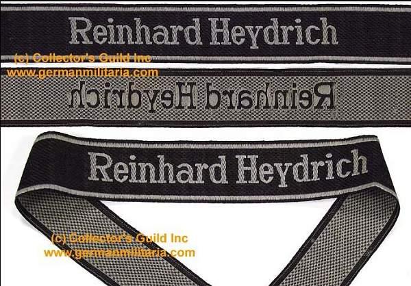 Reinhard Heydrich cuff title,,,need help