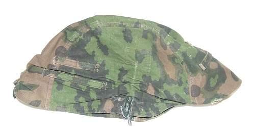SS helmet camo cover