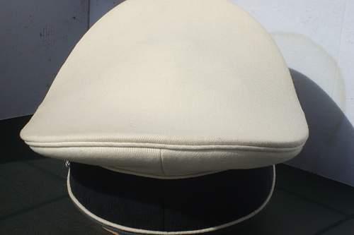 ofF. white toped W-SS visor