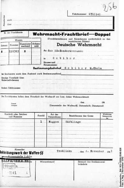 Click image for larger version.  Name:Bundesarchiv_Bild_183-C0509-0049-006%2C_KZ_Treblinka%2C_Wehrmacht-Frachtbrief.jpg Views:950 Size:59.9 KB ID:21486