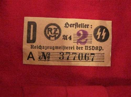 Info needed on paper RZM Tags for SS Armbands.