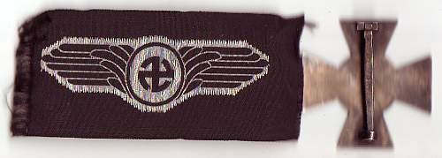 Danish SS Schalburg-Cross and cap badge