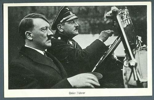 Click image for larger version.  Name:Hitler being driven down the road by his friend, SS Julius Schreck.jpg Views:290 Size:232.9 KB ID:222402