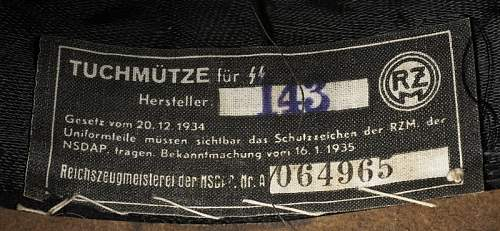 Waffen SS Officer Cap From Italy