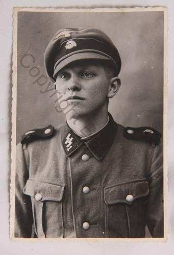 SS1 Deutschland Feldmeutze Alter Art Portrait Photo