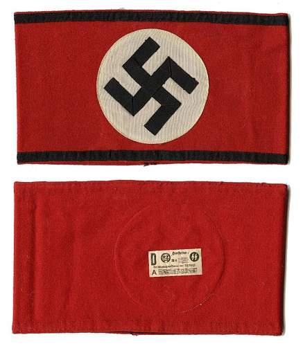 SS-Kampfbinde / Armband Original?
