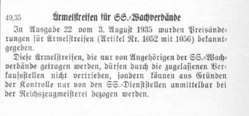 SS Kampfbinde/ Armband Final Review- Time sensitive
