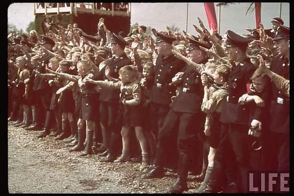 Black uniforms period photos in color