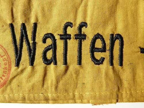 Waffen SS armband ?