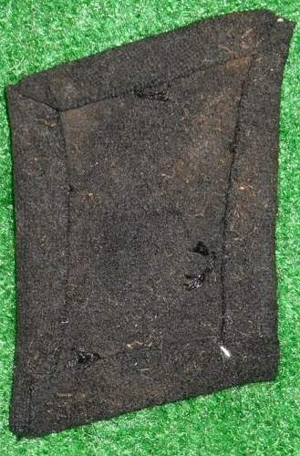 Theatre made mountain troop collar tab or perhaps Florian Geyer tab ............ or just a fake?
