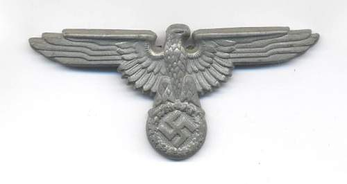 SS cap eagle, aluminum and unmarked...... real?