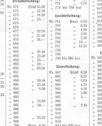Click image for larger version.  Name:Dienstkleidung prices late 1934.jpg Views:50 Size:223.0 KB ID:236977