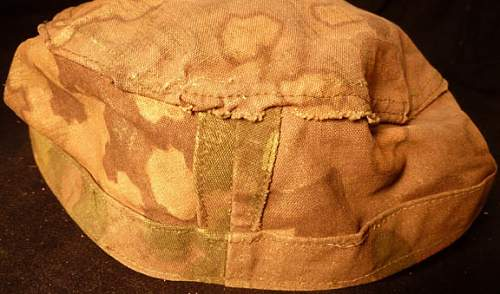 Camo cap, looks theatre made? Real?