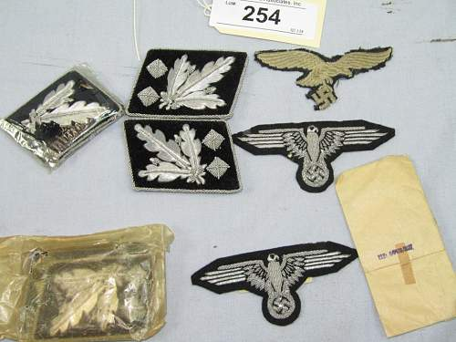 SS Collar Tabs at Auction