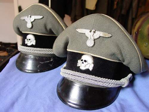 SS panzer peaked visor.................... looks bad to me right away!