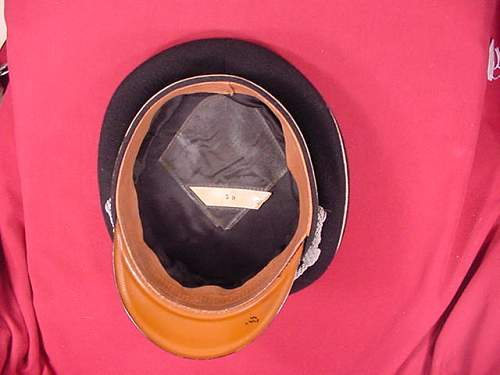 The textbook black SS officer's cap for sale