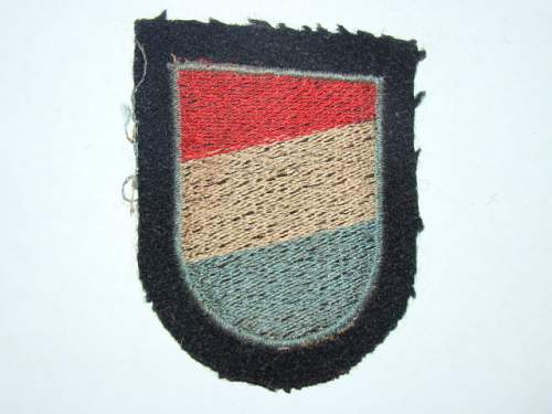 SS Foreign Volunteer Patches