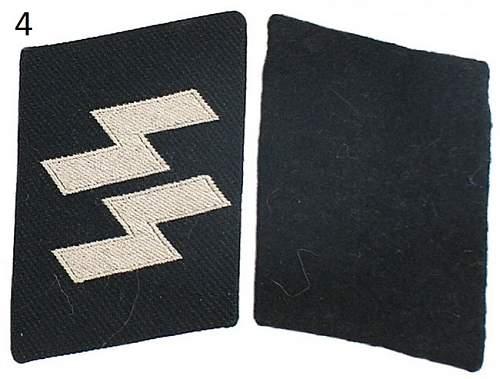 Several SS collar tabs