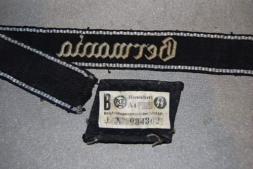 tunic removed Germania cuff title & flatwire Runic tab