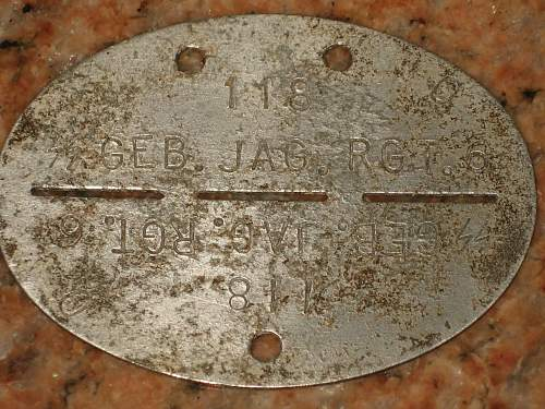 SS GEB. JEG. RGT. 6 ID disc