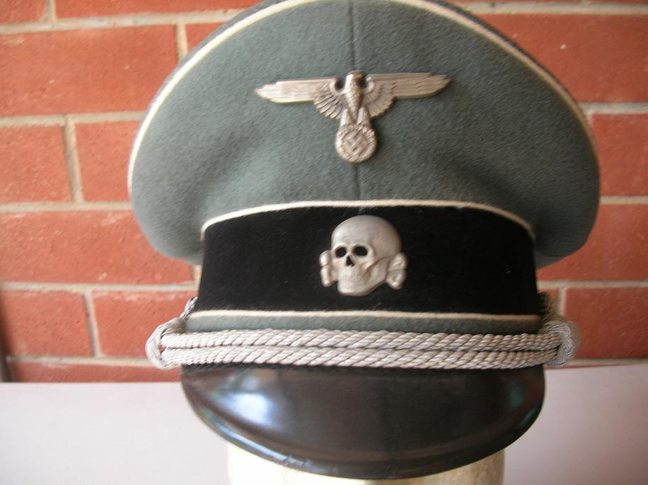 17b1f3c2add Waffen SS Officer s Visor Cap