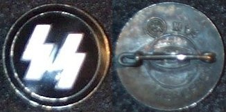 Member of SS Lapel badge, maker marked on back RZM M1/4 Ges Gesch