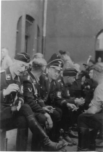 Allgemeine-SS Officer Overseas in Wear